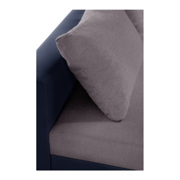 Modro-šedá rohová pohovka s lůžkem na levé straně INTERIEUR DE FAMILLE PARIS Aventure