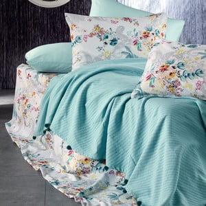 Sada ložního prádla ze 100% bavlny Marie Lou Garden Aqua