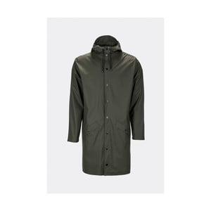Tmavě zelená unisex bunda s vysokou voděodolností Rains Long Jacket, velikost L/XL