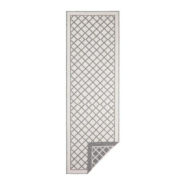 Covor adecvat pentru exterior Bougari Supreme, 350 x 80 cm, gri-crem