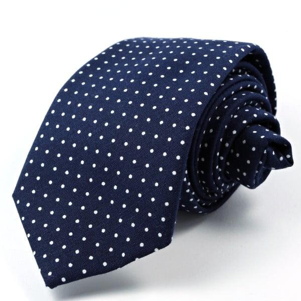 Tmavěmodrá puntíkatá kravata