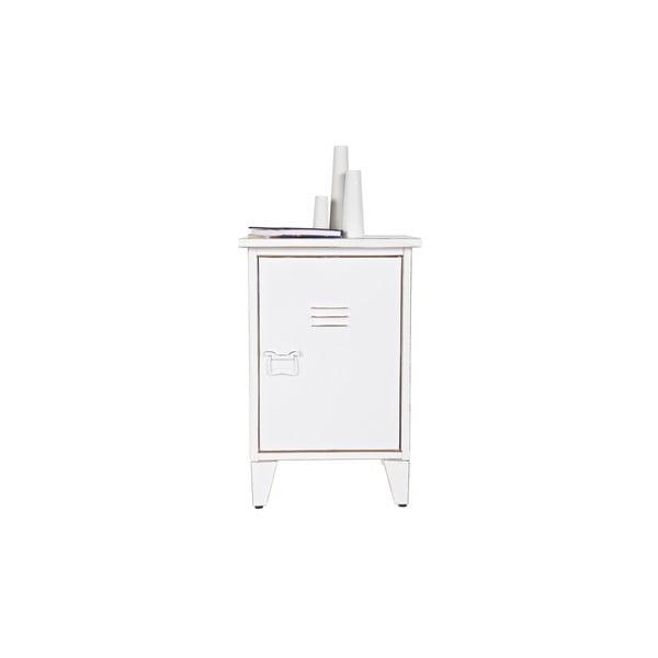 Noční stolek Max, bílý, pravostranné otevírání