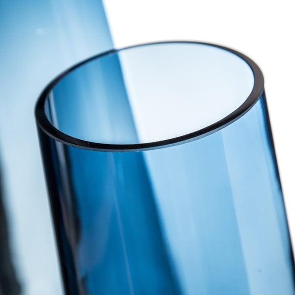 Modrá váza Denzzo Saulo, výška25,5cm