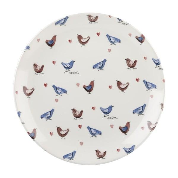 Sada 6 talířů Churchill China Lovebirds, 26 cm