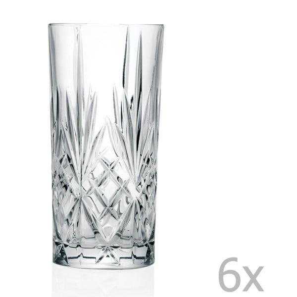 Sofia 6 darabos üvegpohár készlet - RCR Cristalleria Italiana