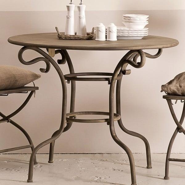Kovový stolek Lodge, hnědý