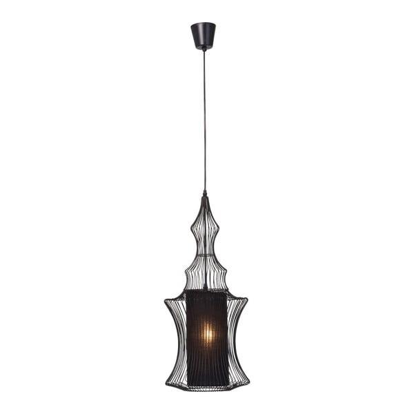 Čierne stropné svietidlo Kare Design Swing Zylinder