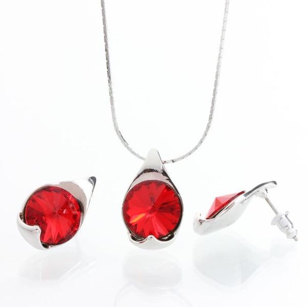 Set náhrdelníku a náušnic Laura Bruni Red