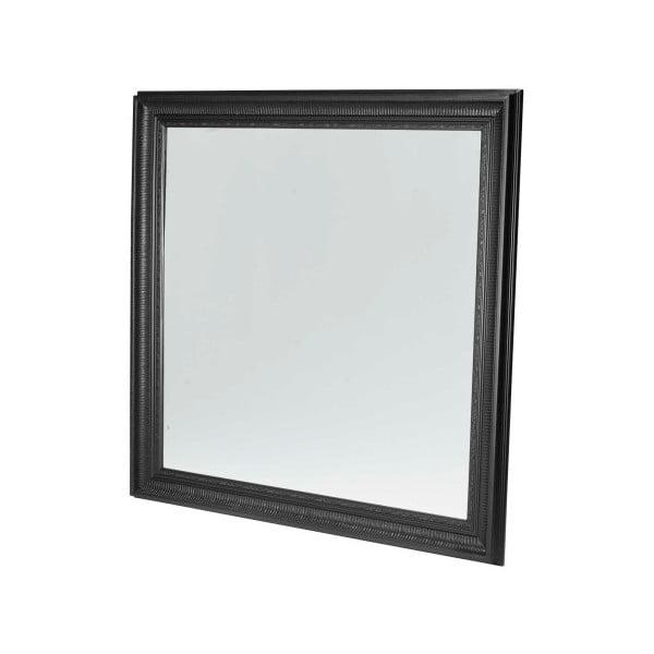 Černé nástěnné zrcadlo Furnhouse Mirror,113x113cm