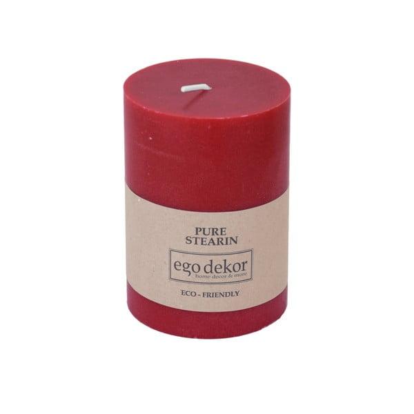 Eco piros gyertya, magasság 10cm - Baltic Candles
