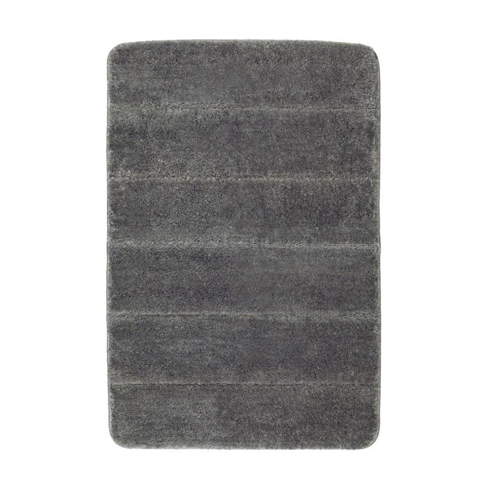 Tmavě šedá koupelnová předložka Wenko Steps, 60 x 90 cm