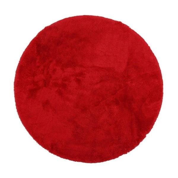 Czerwony dywanik łazienkowy Confetti Bathmats Miami, ⌀ 100 cm