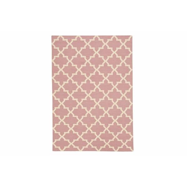 Ručně tkaný koberec Kilim Pink Design, 160x230 cm