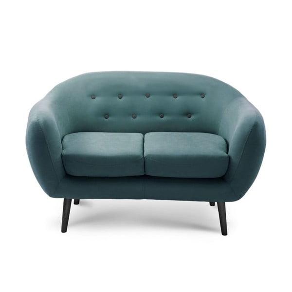 Tyrkysově modrá dvoumístná sedačka Scandi by Stella Cadente Maison Constellation
