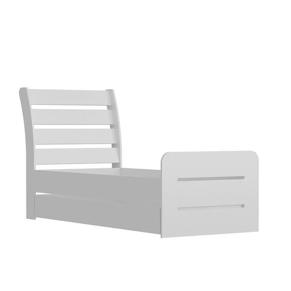 Pata White fehér egyszemélyes ágy, 104 x 201 cm