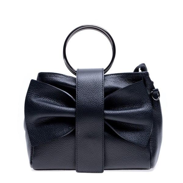 Černá kožená kabelka Roberta M Rosa