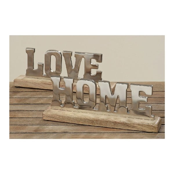 Dekorace Love Home, 2 ks