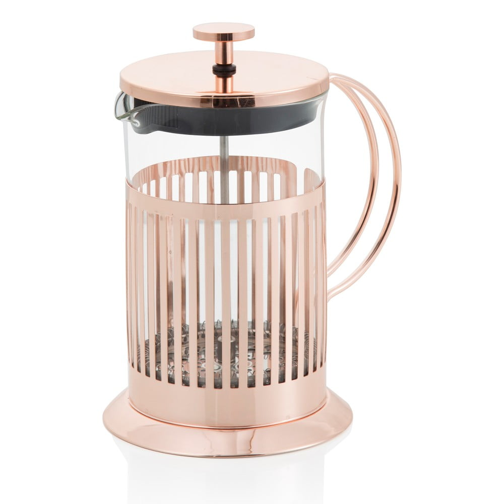 French press na čaj a kávu Brandani Rose Gold 600 ml