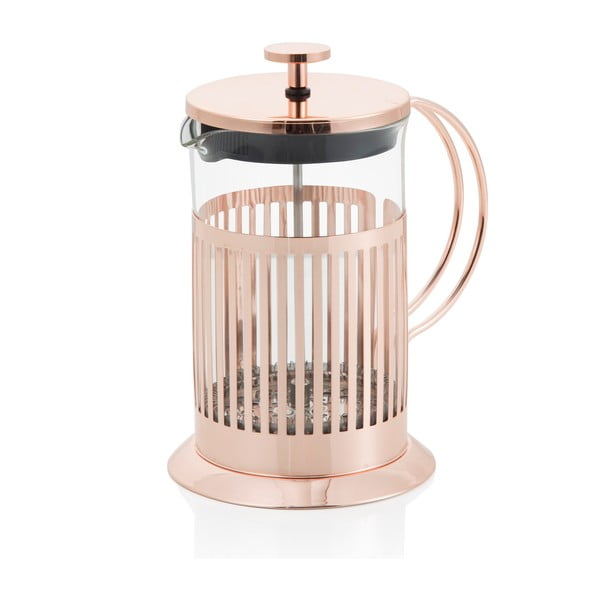 Rose Gold French press dugattyús tea- és kávéfőző, 600 ml - Brandani