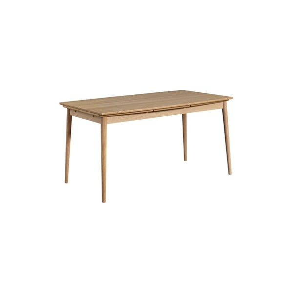 Světle hnědý rozkládací jídelní stůl WOOD AND VISION Curve, 180 x 95 cm