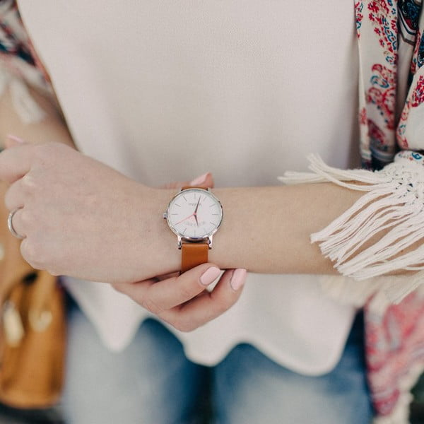 Hnědé hodinky VeryMojo PS I Love You