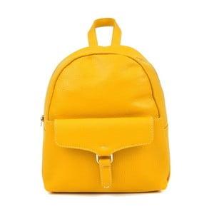 Žlutý kožený batoh Isabella Rhea Mille