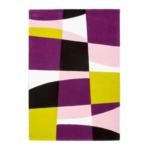 Koberec Lifestyle 171 black/purple, 160x230 cm