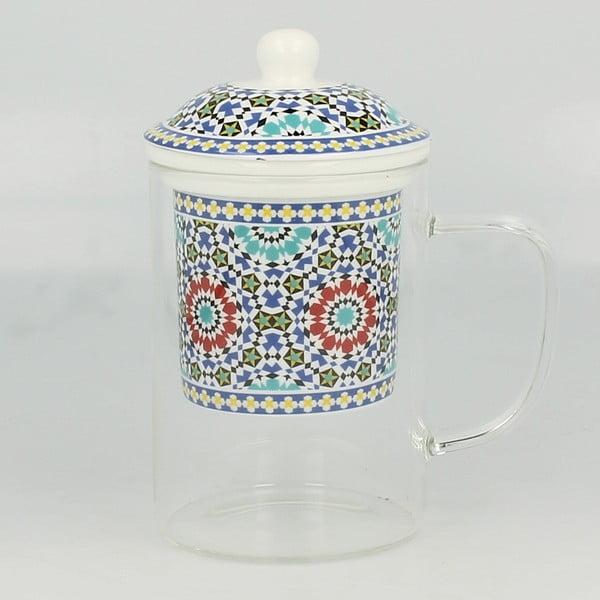 Skleněný hrnek se sítkem Maroko C, 450 ml