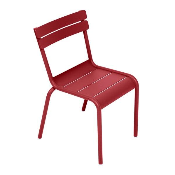 Sytě červená dětská židle Fermob Luxembourg
