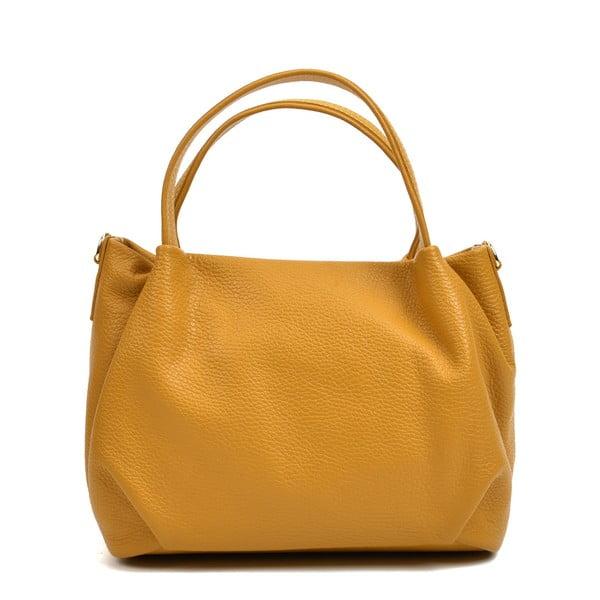 Koňakově hnědá kožená kabelka AnnaLuchini Molly