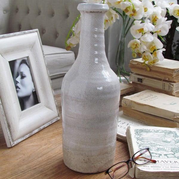 Váza Raw White, 14x38 cm