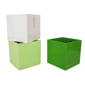 Sada 3 ks středních magnetických květináčů CUBE, zelená