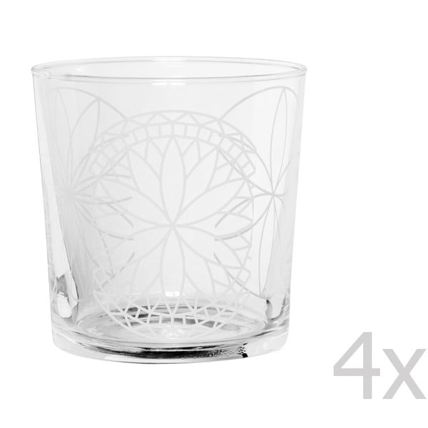 Sada 4 sklenic Rosace, 370 ml