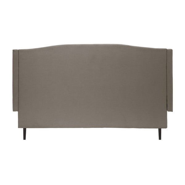 Šedá postel s černými nohami Vivonita Windsor,180x200cm