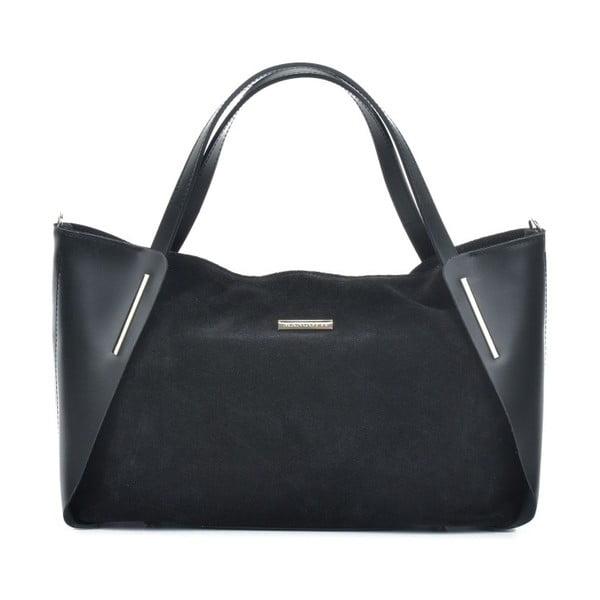 Černá kožená kabelka Mangotti Bags Elvira