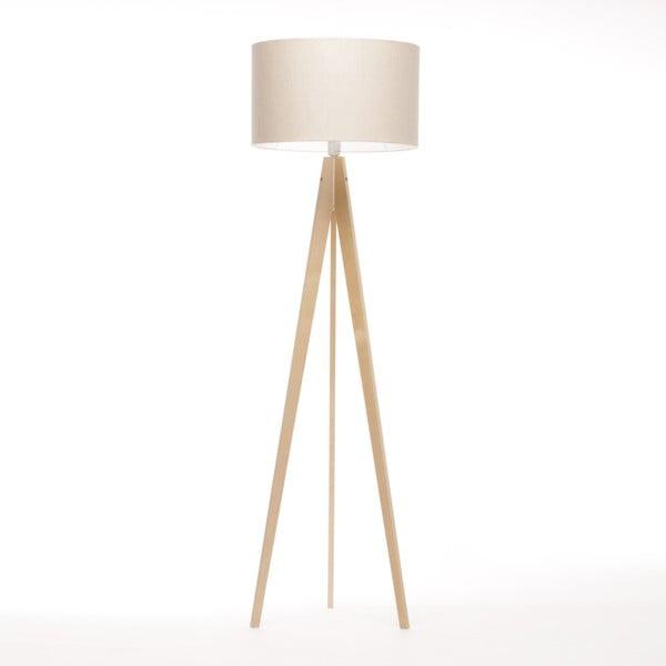 Krémová stojací lampa 4room Artista, přírodní bříza, 150 cm