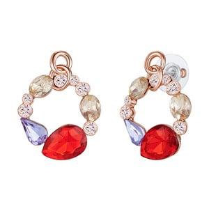 Náušnice v barvě růžového zlata s krystaly Swarovski Saint Francis Crystals Chantal