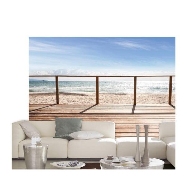 Velkoformátová tapeta Na pláži, 254x366 cm