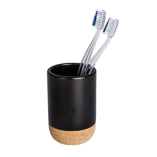 Černý kelímek na zubní kartáčky Wenko Corc