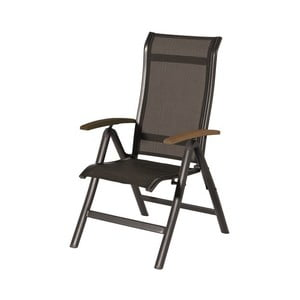 Polohovatelná zahradní židle s opěrkami z teakového dřeva Hartman Alice