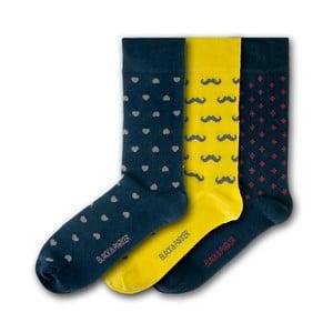 Sada 3 ponožek Black&Parker London Probus Gardens, velikost 37 – 43