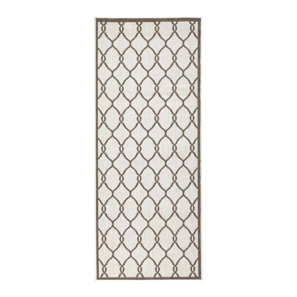 Hnedý vzorovaný obojstranný koberec Bougari Rimini, 80×350 cm
