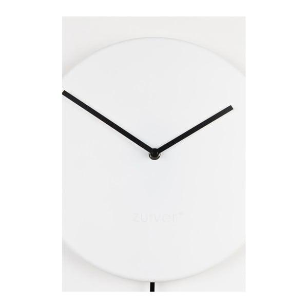 Bílé nástěnné hodiny Zuiver