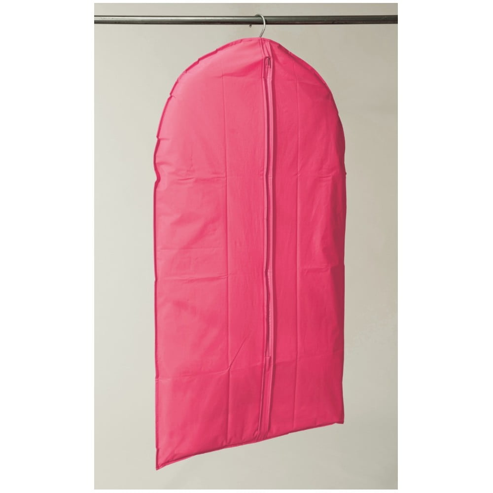 Růžový závěsný obal na šaty Compactor Garment, délka 137 cm