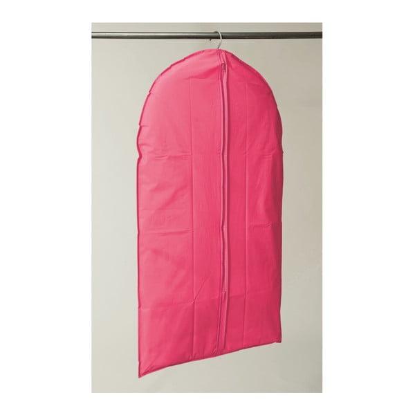 Ružový závesný obal na šaty Compactor Garment, dĺžka 137 cm