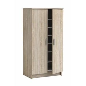 Suport încălțăminte cu 2 uși și elemente din lemn de stejar Zapatero