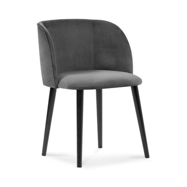 Tmavě šedá jídelní židle se sametovým potahem Windsor & Co Sofas Aurora