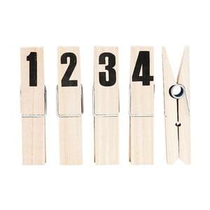 Sada 4 kolíčků s čísly HouseDoctor Clip