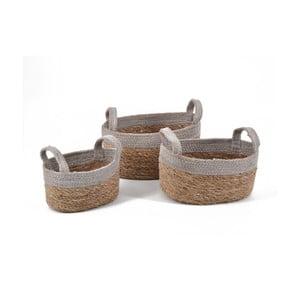 Sada 3 košíků s držadly Moycor Jute