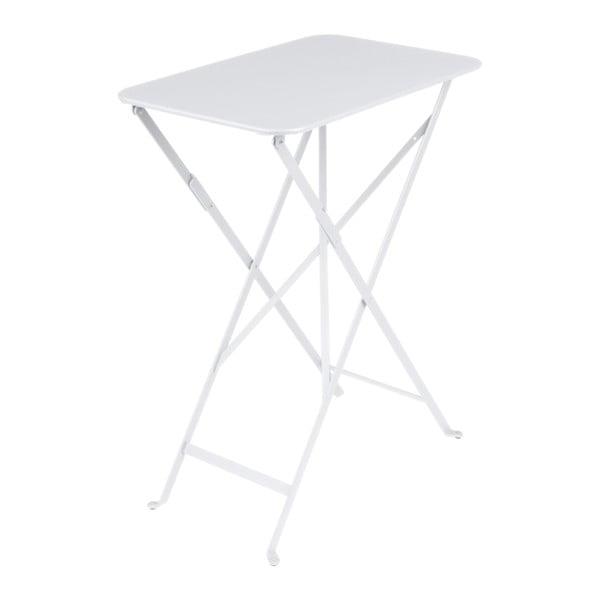 Bílý zahradní stolek Fermob Bistro, 37 x 57 cm